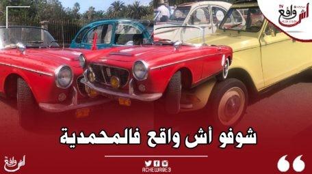 أكبر تجمع للسيارات العتيقة إحتفاءا بعيد العرش المجيد