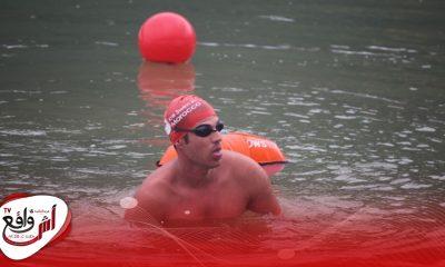 خنيفرة: حسن بركة يقطع 1600 متر سباحة في المياه الجليدية ويحطم رقمه القياسي