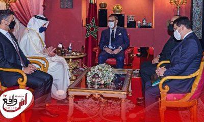 جلالة الملك يستقبل وزير الخارجية والتعاون الدولي الإماراتي