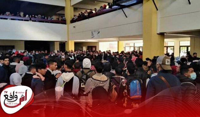 """""""المنحة"""" تُخرج طلبة كلية الحقوق بمراكش للاحتجاج +صور"""