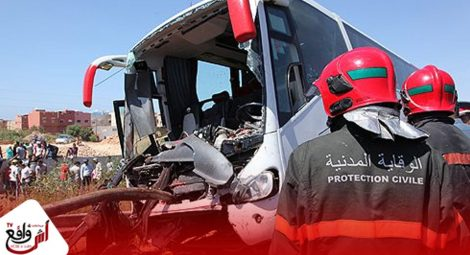 """مصرع 12 شخصا وإصابة 36 آخرين في حادثة سير على مستوى دوار """"دو امزي"""" جماعة """"امسوان"""""""