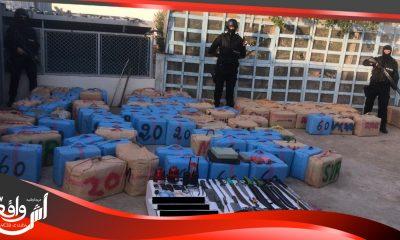 توقيف 14 شخصا من بينهم موريتاني وسنغالي وحجز 5,8 أطنان من مخدر الشيرا