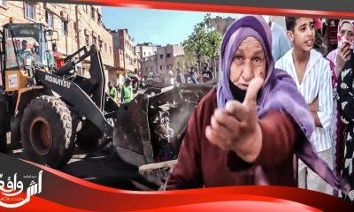سلا: هدم سوق عشوائي تزامنا مع تمديد حالة الطوارئ..شوفو لحظة تدخل السلطات