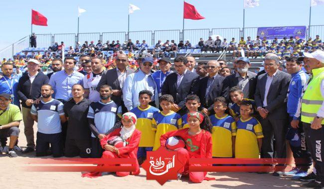"""الدورة الاولى لدوري مدينة الجديدة في كرة القدم الشاطئية2019، تحت شعار"""" جميعا من أجل نهضة رياضية في إقليم الجديدة"""""""